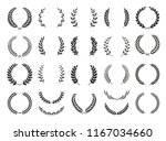 collection of different black... | Shutterstock .eps vector #1167034660