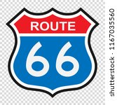 us route 66 sign  shield sign... | Shutterstock .eps vector #1167035560