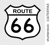 us route 66 sign  shield sign... | Shutterstock .eps vector #1167035563