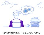 businessman working... | Shutterstock .eps vector #1167037249
