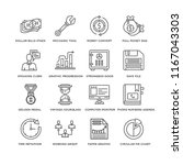 set of 16 simple line icons... | Shutterstock .eps vector #1167043303