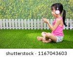 asian little chinese girl... | Shutterstock . vector #1167043603