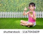 asian little chinese girl... | Shutterstock . vector #1167043609