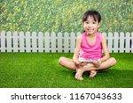 asian little chinese girl... | Shutterstock . vector #1167043633