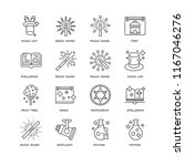 set of 16 simple line icons... | Shutterstock .eps vector #1167046276