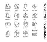 set of 16 simple line icons... | Shutterstock .eps vector #1167046426