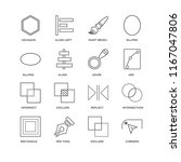 set of 16 simple line icons... | Shutterstock .eps vector #1167047806