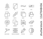 set of 16 simple line icons... | Shutterstock .eps vector #1167048436