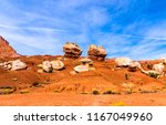 red rock canyon desert... | Shutterstock . vector #1167049960