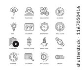 set of 16 simple line icons... | Shutterstock .eps vector #1167050416