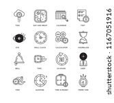 set of 16 simple line icons... | Shutterstock .eps vector #1167051916