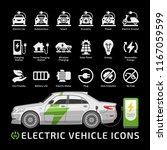 electric sedan car vector... | Shutterstock .eps vector #1167059599