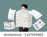 busy businessman with pile of... | Shutterstock .eps vector #1167059803