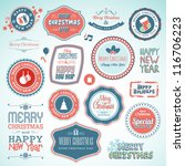 set of stickers and elements... | Shutterstock .eps vector #116706223