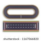 kart race background. top view. ... | Shutterstock .eps vector #1167066820