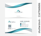 business card vector background | Shutterstock .eps vector #1167068686
