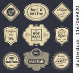 vector sale labels. vintage... | Shutterstock . vector #1167069820