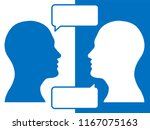 heads of two people... | Shutterstock . vector #1167075163