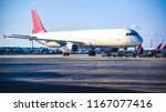 passenger plane at the airport | Shutterstock . vector #1167077416
