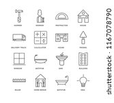 set of 16 simple line icons... | Shutterstock .eps vector #1167078790