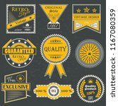 premium quality labels. set of... | Shutterstock . vector #1167080359