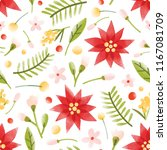 floral seamless pattern with... | Shutterstock .eps vector #1167081709