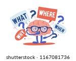 adorable curious human brain... | Shutterstock .eps vector #1167081736