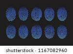 collection of fingerprints of... | Shutterstock .eps vector #1167082960