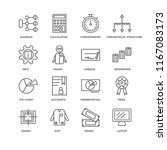 set of 16 simple line icons... | Shutterstock .eps vector #1167083173