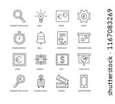 set of 16 simple line icons... | Shutterstock .eps vector #1167083269