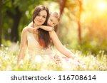 mother and daughter having fun... | Shutterstock . vector #116708614