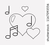 love song icon line element....   Shutterstock .eps vector #1167093556