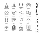 set of 16 simple line icons... | Shutterstock .eps vector #1167093709