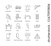 set of 16 simple line icons... | Shutterstock .eps vector #1167095806
