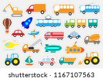 different colorful transport...   Shutterstock .eps vector #1167107563