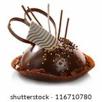 delicious chocolate pastry with ... | Shutterstock . vector #116710780