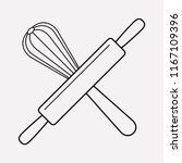 bakery tools icon line element. ... | Shutterstock .eps vector #1167109396