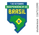 brazilian independence day... | Shutterstock .eps vector #1167112390