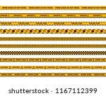 danger caution seamless tapes....   Shutterstock .eps vector #1167112399