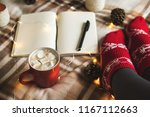 autumn and winter background... | Shutterstock . vector #1167112663