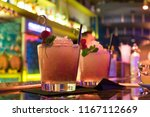 two alcoholic cocktails of pink ... | Shutterstock . vector #1167112669