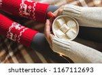 women's hands and feet in... | Shutterstock . vector #1167112693