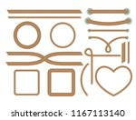 realistic nautical twisted rope ...   Shutterstock .eps vector #1167113140