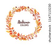 elegant round frame  garland ... | Shutterstock .eps vector #1167113230