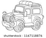 cartoon funny off road vector... | Shutterstock .eps vector #1167118876
