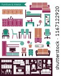 furniture and elements of an...   Shutterstock .eps vector #1167122920