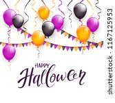 text happy halloween and... | Shutterstock .eps vector #1167125953