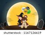 illustration happy halloween... | Shutterstock .eps vector #1167126619
