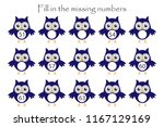 game with owls for children ... | Shutterstock .eps vector #1167129169