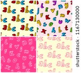 colorful hand drawn letters... | Shutterstock . vector #1167130000
